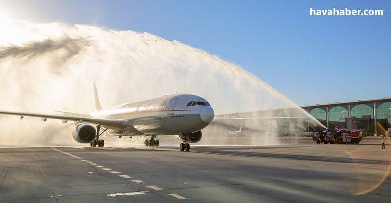 Çin Halk Cumhuriyeti'nden ülkemize son 5 ay içerisinde direkt uçuş başlatan ikinci şirket olan Sichuan Airlines, bugün Chengdu'dan @igairport'a ilk seferini düzenledi. ✈️ Avrupa'da 6. nokta olarak İstanbul'a uçmaya başlayan Sichuan Airlines'a hoş geldiniz diyorum. 👏