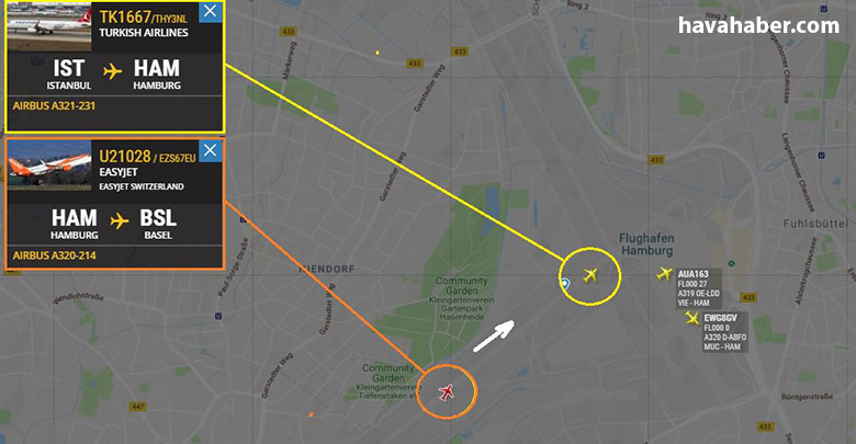 THY uçağı Hamburg'da büyük tehlike atlattı; Easyjet'le burun buruna geldi