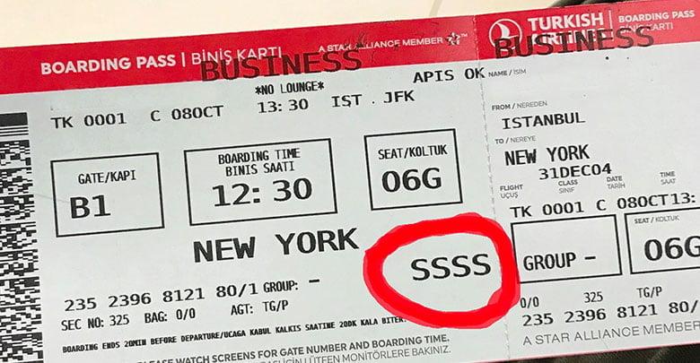 """Biniş Kartı (Boarding Pass) Üzerindeki """"SSSS"""" İbaresi Ne Anlama Geliyor?"""