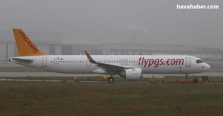 Pegasus renklerine boyanan uçağın son görüntüsü Tobias Gudat tarafından kaydedildi.