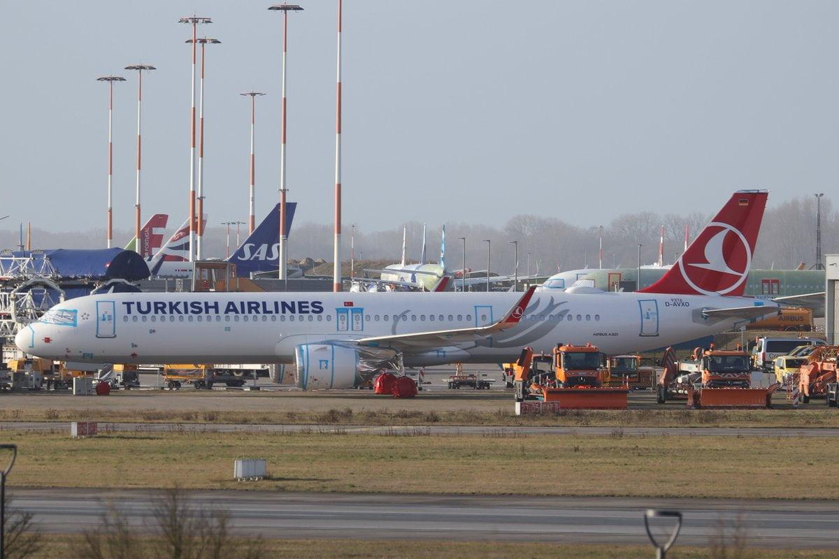 THY'nin TC-LSU kuyruk tescili verilen yeni Airbus A321NEO uçağı fabrikadan çıktı