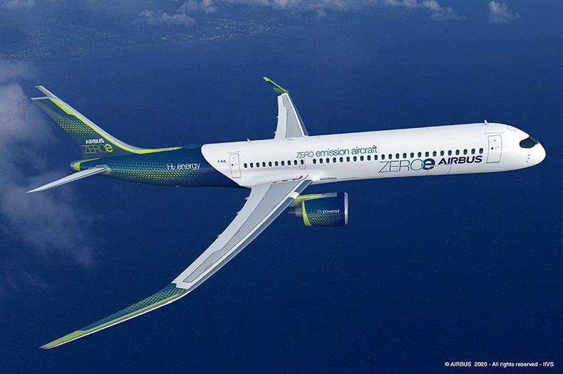 Airbus yeni sıfır emisyon konsept uçağını duyurdu - Hava Haber